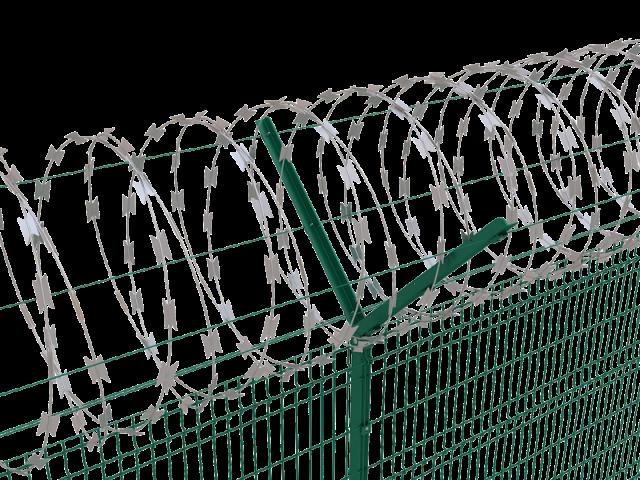 установка егозы на забор